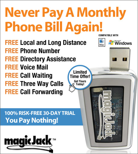 magicJack™ - Never Pay A Monthly Phone Bill Again
